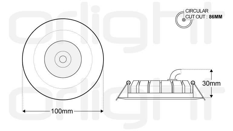 mtg21b solid state downlight