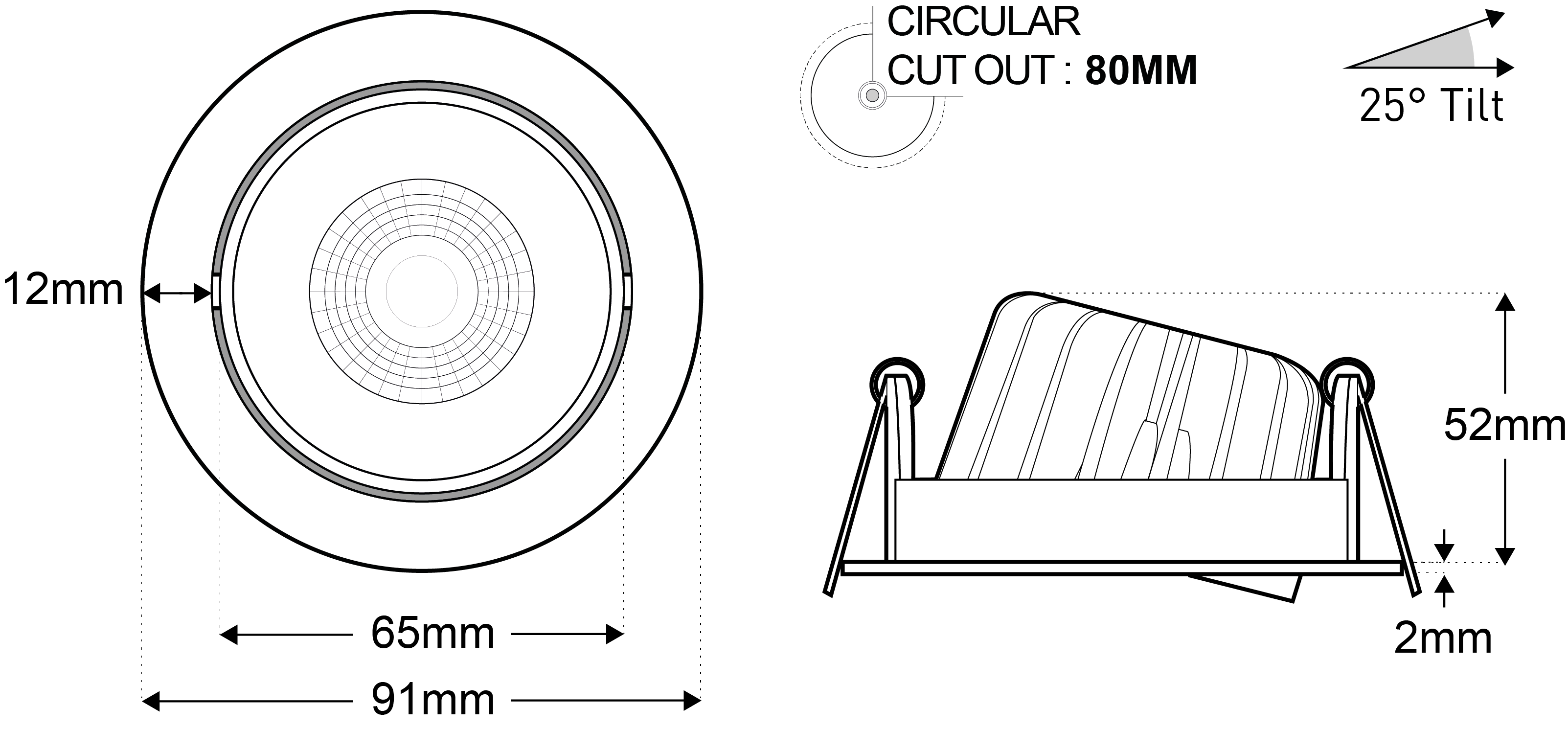tiltable solid state downlight